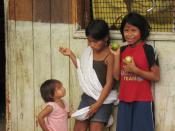 Huaorani (Waorani) children in Ecuador, May 2008.