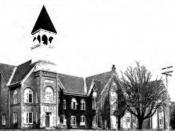 Building at Western Oregon University circa 1920