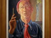 E. E. Cummings, 1958 by Edward Estlin Cummings, Oil on canvas