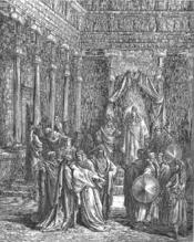 English: Esther Before the King (Est. 5:1-8) Русский: Есфирь и Артаксеркс (Эсф. 5:1-8)