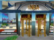 The virtual NBA Store as portrayed in the game Second Life.