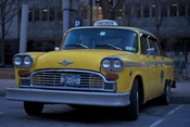 English: A checker taxi cab. Deutsch: Ein Checker Taxi Cab.