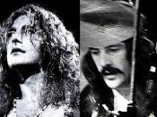 Composite photo of the members of English heavy metal group Led Zeppelin