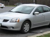 2004-2006 Mitsubishi Galant photographed in USA.