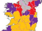 Map of Ireland with Hurling championship levels