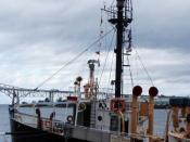 English: Huron Light Ship Museum in the St. Clair River, Port Huron, Michigan