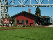 Thomas Edison Depot Museum under the Blue Water Bridge in Port Huron, Michigan