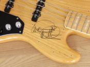 FOR SALE: Fender Marcus Miller Jazz Bass (Japan) autographed by Marcus Miller.