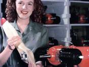 U.S. army - June 26, 1945 YANK magazine photo (colorized version) of Marilyn Monroe as Norma Jean Dougherty