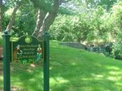 English: a photo of the Anne Hutchinson Mary Dyer Memorial Herb garden at Founders' Brook Park, Boyd Lane, Portsmouth, Rhode Island