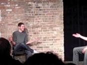 Three improvisers performing long form improv comedy at the Gorilla Tango Theatre in Chicago.