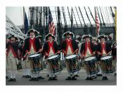 US Navy 070718-N-6205S-001 Michigan^rsquo,s Plymouth Fife and Drum Corps performs American Revolution-era music in front of USS Constitution