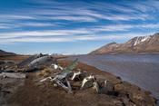 Crashed German Second Worldwar Airplane in Adventdalen/Svalbard