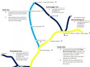English: A map of the long term goals of the Grand Trunk Terminal Project and the CBCR.
