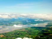 English: Shannon, County Clare, Ireland as the plane comes down to land at Shannon Airport