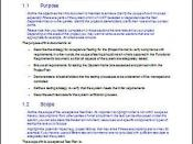 Exec Summary - Acceptance Test Plan during Software Development Testing Phase