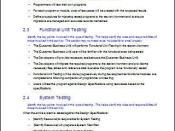Unit Testing - Acceptance Test Plan during Software Development Testing Phase
