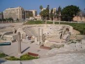 English: The Ancient Roman Theatre in Alexandria.