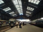 Inside the Misr Railway Station in Alexandria, Egypt.