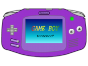Purple Gameboy Advance icon