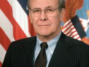 Donald Rumsfeld, Secretary of Defense of the United States.