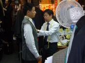 English: A tailor at work in Hong Kong. Deutsch: Ein Schneider bei der Arbeit, in Hong Kong
