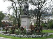 Statue of Jöns Jacob Berzelius at Berzelii Park, Stockholm, Sweden. The statue was made by sculptor sv:Carl Gustaf Qvarnström (1810-1867) and was revealed in 1858.