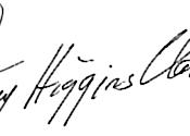 Mary Higgins Clark's signature
