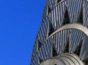 Detail of the ornamentation on the upper tower of the Chrysler Building, New York City.