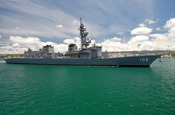 PEARL HARBOR, Hawaii (May 29, 2007) - Japan Maritime Self Defense Force (JMSDF) ship JDS Inazuma (DD-105) maneuvers through Pearl Harbor as she prepares to moor pierside at Naval Station (NAVSTA) Pearl Harbor. JMSDF ships Inazuma, JDS Chokai (DDG-176) and