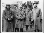 Chinese students starting for the trenches on the Western Front
