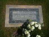 English: This is a photo of Frank Sinatra's gravestone located near Palm Springs, CA