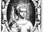 Frontispiece of Marie de Gournay (1565 - 1645)
