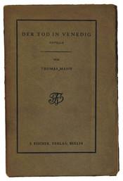 English: Thomas Mann: Der Tod in Venedig (Death of Venice), first single print by S. Fischer, original cover 1913. Deutsch: Thomas Mann: Der Tod in Venedig. Novelle. Erster Einzeldruck nach dem limitierten Hundertdruck von 1912.