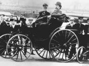 English: Bertha Benz with her husband Carl Benz in a Benz-Viktoria, model 1894