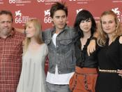 Jared Leto, Diane Kruger, Sarah Polley, Linh Dan Pham and the director Jaco Van Dormael from the film Mr. Nobody at the 66th Venice International Film Festival.