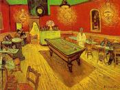 The Night Cafe (1888), by Vincent van Gogh, showing a pocketless carom table