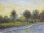 Way in the Voyer d'Argenson Park in Asnieres