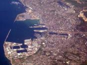 Aerial view of Cherbourg-Octeville