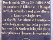 Plaque commémorative, centre culturel de Cherbourg-Octeville, rue Vastel