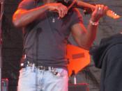 English: Boyd Tinsley, Violinist for Dave Matthews Band, Rothbury Michigan