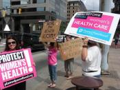 Planned Parenthood volunteers help bring the fight for health insurance reform to the Ohio Statehouse in Columbus.