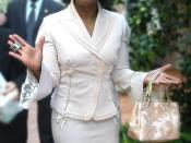 Photo of Oprah Winfrey at her 50th birthday party at Hotel Bel Air