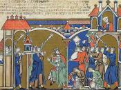 David dances in the presence of the ark.