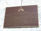 English: Plaque commemorating Operation Torch at the American War Memorial, Gibraltar.