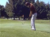 The chip by a left-handed golfer