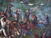 Sam Houston at the Battle of San Jacinto.