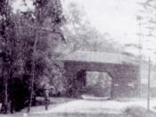 English: The tollgate in Slingerlands along the Albany, Rensselaerville, Schoharie Turnpike, looking east.