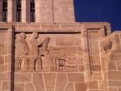 English: Nebraska Capitol. architectural sculpture