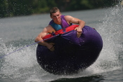 English: Tubing on Pleasant Lake, Cass County, MN